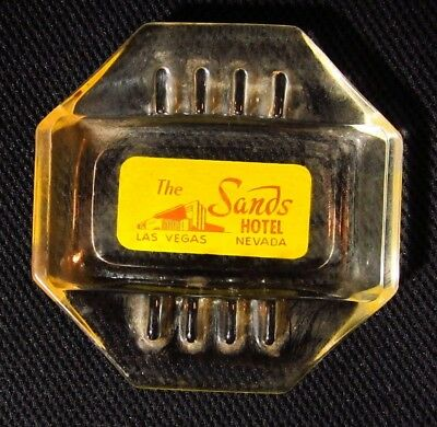 Vintage 8 Sided Glass Ashtray - The Sands Hotel Las Vegas
