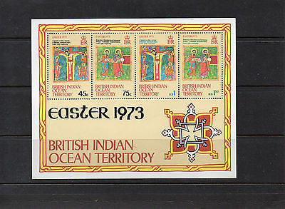 British Indian Ocean Territory 1973 Easter Min Sheets X 34 all MNH