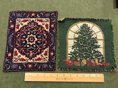 Dollhouse Miniatures ~ Christmas NeedlePoint Rug - Bonus rug included