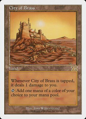 City of Brass 6th Edition NM-M Land Rare MAGIC THE GATHERING MTG CARD ABUGames