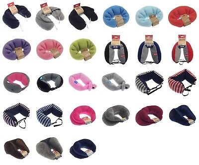 Super Soft Travel Pillow Neck Cushion Microbead Filled Polyester Various Designs