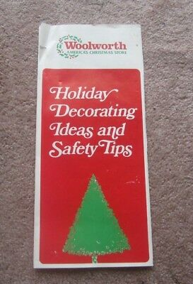Vintage 1985 Woolworth Store Home Holiday Decorating Ideas Safety Tips Brochure