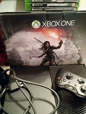 Microsoft Xbox One 1TB Black Console with games and controller