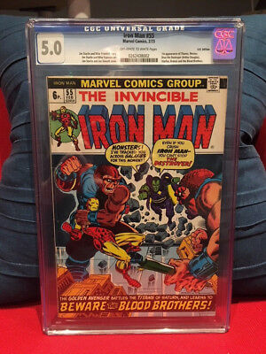IRON MAN #55 - CGC 5.0 First Thanos