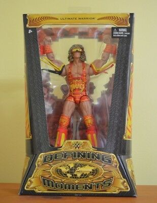 NIB Mattel WWE elite Wrestling figure ULTIMATE WARRIOR DEFINING MOMENTS Series