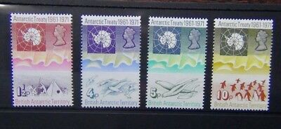 British Antarctic Territory 1971 Tenth Anniversary of Antarctic Treaty Set MNH