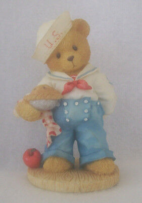 "Cherished Teddies Bob ""Our Friendship Is From Sea To Shining Sea"" Figurine  1996"