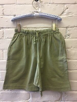 NEW Vintage Girl 8 M Flapdoodle Shorts Green Cotton Loose Pockets