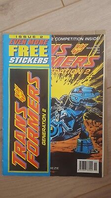 Transformers Generation 2 #2 Rare with stickers