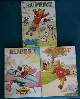 Bundle of 3 Rupert Annuals 1982, 1983 and 1984