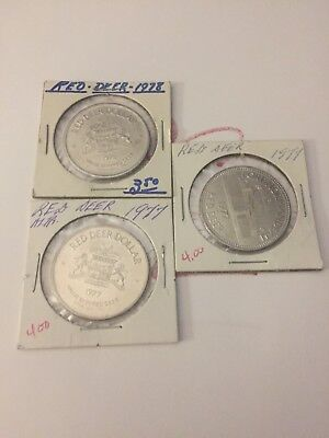Red Deer Trade  So Called Dollar Token Canada Mixed Lot Of 3 #47