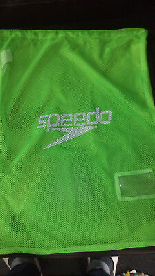 Speedo Mesh Equipment Swimwear Bag Swimming Gym Wet Kit New