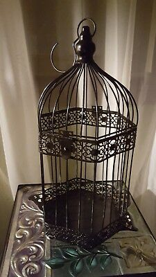 Lg Black Metal Bird Cage Gift Table Center Piece For Wedding $$ ♡ Vintage Style