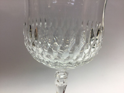 Cut glass goblet 24% lead crystal nice quality
