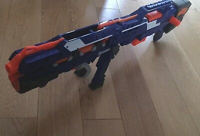 Nerf CS 6 Long Shot Sniper Rifle Dart Gun N Strike Elite Blue Longshot 2 Gun Mag