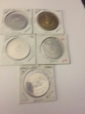 Canadian Trade Dollar Tokens Mixed Lot Of 5 #72