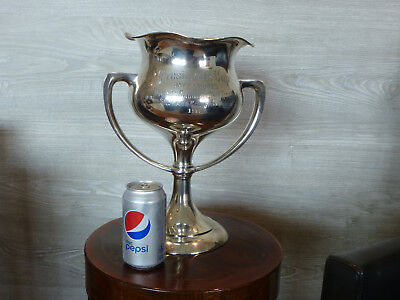 Large 1913 Shreve & Co. Sterling Silver Golf Trophy-Spokane Country Club