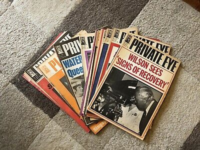 Private Eye 1976 Complete Year Set 367-392 (375, 377, 378 Missing)
