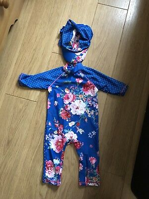 Baby Girls Boots Mini Club 6-12 Months Uv Suit & Hat Ted Baker Vibes