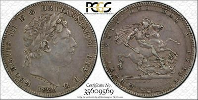 Great Britain, 1820 George III Crown. PCGS XF 45.