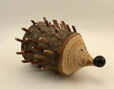 Wooden Hedgehog Figure