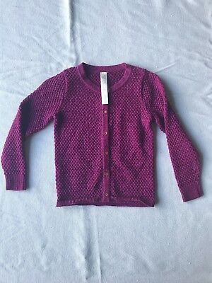 CHEROKEE Toddler Long Sleeve Button Down Cardigan Sweater Size 2T Purple sparkle