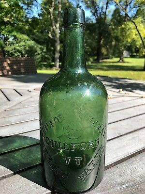 Guilford Mineral Spring Water Vermont Quart Antique Mineral Water Bottle