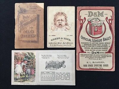 Early 1900s Vintage Antique Janesville Wisconsin WI Advertising ESTATE LOT 371