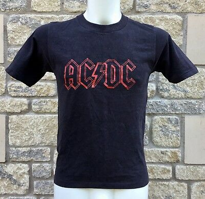 ORIGINAL Vintage 1979 * AC/DC * HIGHWAY TO HELL European Tour T-Shirt  SUPERB