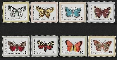 Stamps. Bulgaria. Butterfly set. MNH. Sg 1337-1344