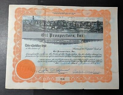 Colleciton of Oil Related Stock Certificates - Mixed Condition