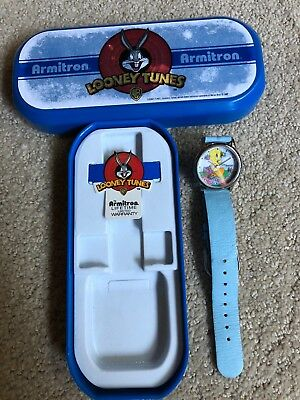 Looney Tunes Tweety Bird Armitron Watch in Original Plastic Case