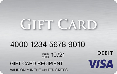 $250.00 Card: VISA Gift, Valid & Activated, Ready to Use, ZERO Fees – BRAND NEW!