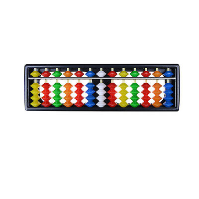 Portable Plastic Colorful Beads Abacus Arithmetic Soroban Calculating Tool SSHN