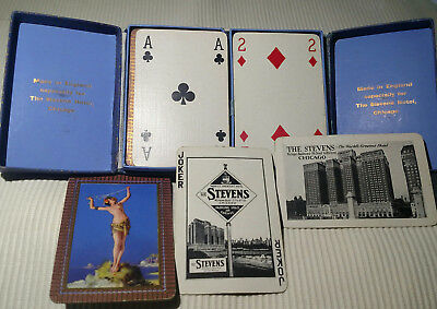 Vintage Playing Cards STEVENS HOTEL CHICAGO ILL. Free Shipping