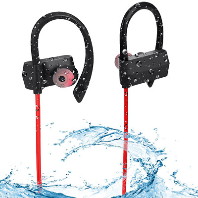 Sweatproof In-Ear Earbud for Gym Running Workout 8 Hour Noise Cancelling Headset