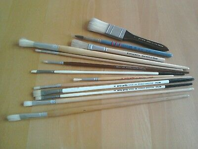 Job Lot of Artists Paint Brushes used and unused