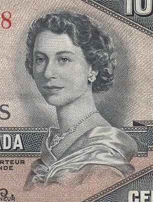 1954 Bank Of Canada Qeii $100 **devils Face** (( Ef ))