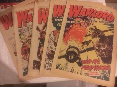 5 X Warlord Issues - 16 -20 Decent Condition For Age - Battle Action 2000Ad