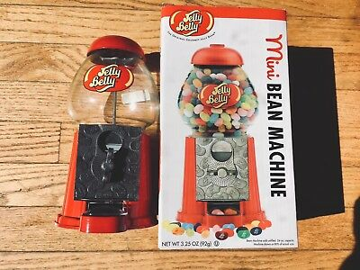 JELLY BELLY  MACHINE METAL & GLASS DISPENSER Coin Gum Candy Vintage Bean - New!!