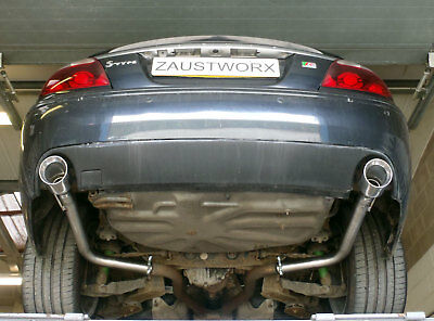 """Jaguar S Type R 4.2 V8 Rear silencer delete pipes - 4"""" Tail pipe style A"""