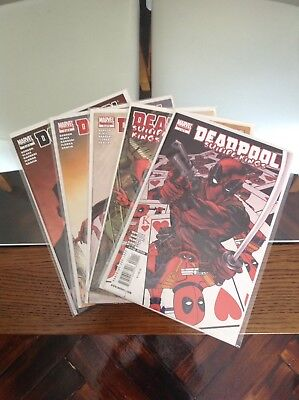Rare Deadpool Suicide Kings 1-5 Full Set 1st Prints NM Spiderman Homage Cover
