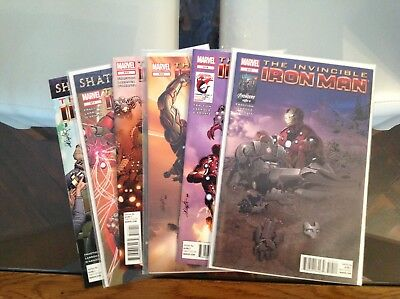"Invincible Iron Man Vol 1 510 - 515 ""Demons"" Complete Set Fear Itself Aftermath"