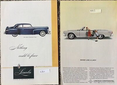 Lot Of 21 Original Lincoln Automobile Magazine Advertisements From The 1960's