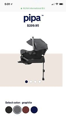 Nuna pipa infant car seat and Base In Graphite Color