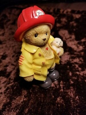 Fire Fighter Teddy Bear / Cherished Teddies- Clark You're My Hero w/ serial #s