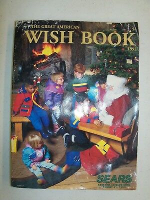 Vintage 1992 Sears The Great American Wish Book Christmas Catalog