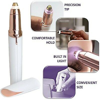 Flawless Women's Brows Painless  Trimmer Electric Eyebrow Hair Remover LED Light