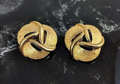Vintage Gold tone Clip on Earrings by Trifari