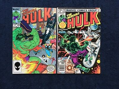 Incredible Hulk #250 and #300 ~ Marvel Venom and Silver Surfer ~ Great condition